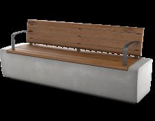ספסלי זהר עם מושב ומשענת עץ