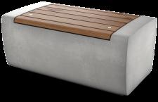 ספסלי זהר עם מושב עץ