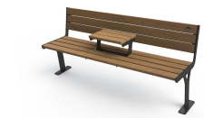 Peled Bench with table