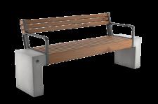 ספסל אפק עץ עם משענת