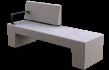 ספסל נגב עם משענת ומסעד יד