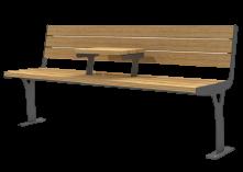 ספסל פלד עץ עם שולחן