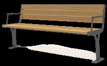 ספסל פלד עם מסעד יד