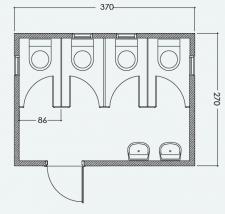 מבנה כנען 4 תאי שירותים