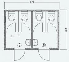 מבנה כנען 4 תאים ב-2 חדרים
