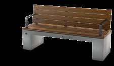 ספסל נגב עץ עם משענת