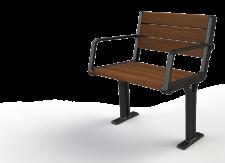 מושב פלד עץ יציקת ברזל