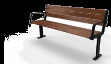 Peled iron casting- wood Bench
